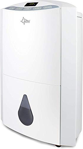 SUNTEC Luftentfeuchter Dryfix 20 Design – für Räume bis 150 M³ (63 m2) | Raumentfeuchter mit 20 l/Tag Entfeuchtung | Entfeuchter elektrisch inkl Luftreiniger Funktion + mobile Wäschetrocknung